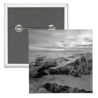 USA, Alaska, Denali National Park, Aerial view 2 15 Cm Square Badge