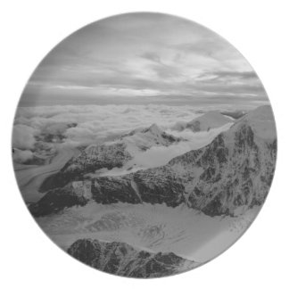 USA, Alaska, Denali National Park, Aerial view 2 Plate