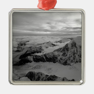 USA, Alaska, Denali National Park, Aerial view 2 Silver-Colored Square Decoration