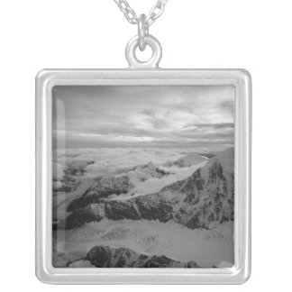 USA, Alaska, Denali National Park, Aerial view 2 Silver Plated Necklace