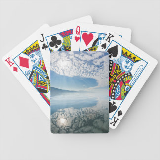 USA, Alaska, Freshwater Bay. Clouds Reflected Bicycle Playing Cards
