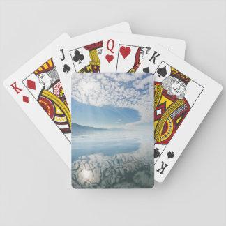 USA, Alaska, Freshwater Bay. Clouds Reflected Poker Deck