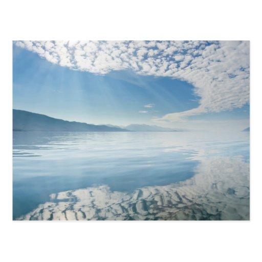 USA, Alaska, Freshwater Bay. Clouds Reflected Postcard