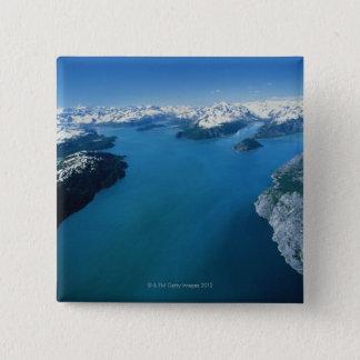 USA,Alaska,Glacier Bay National Park,aerial view 15 Cm Square Badge
