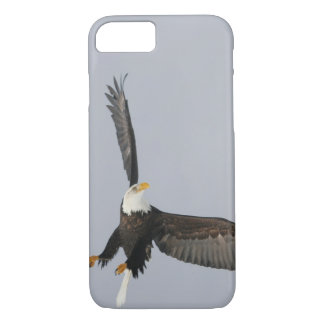 USA, Alaska, Homer. Bald eagle upside down start iPhone 7 Case