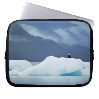 USA, Alaska, Inside Passage. Bald eagle perched Laptop Sleeve