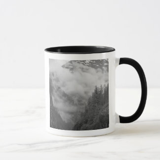 USA, Alaska, Juneau, Rainforest covers fjords in Mug