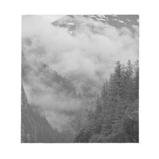 USA, Alaska, Juneau, Rainforest covers fjords in Notepad