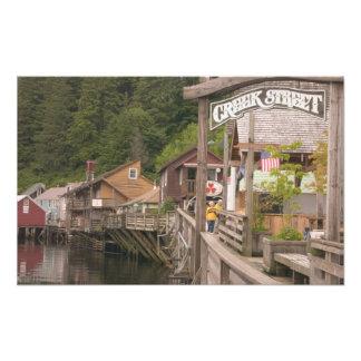 USA, Alaska, Ketchikan, Creek Street, downtown Photo Print