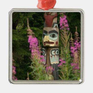 USA, Alaska, Ketchikan, Totem Bight State Christmas Ornament
