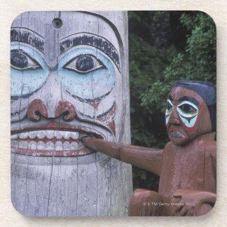 USA, Alaska, Ketchikan, Totem Heritage Center, Drink Coasters