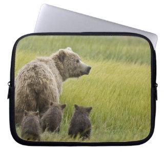 USA, Alaska, Lake Clark National Park. Grizzly Laptop Computer Sleeve