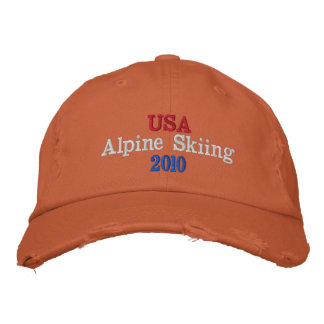 USA  Alpine Skiing 2010 Embroidered Hat
