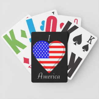 USA America American Flag Bicycle Playing Cards