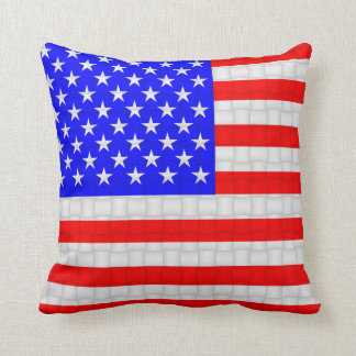 USA America American Flag Cushion