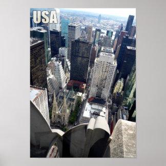 USA America City Skyscraper Poster