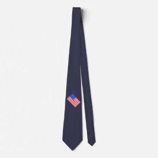 USA America CricketDiane American Flag 4th July Tie