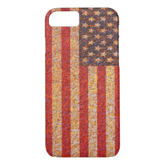 USA America Flag Rusty Old Texture iPhone 7 Case