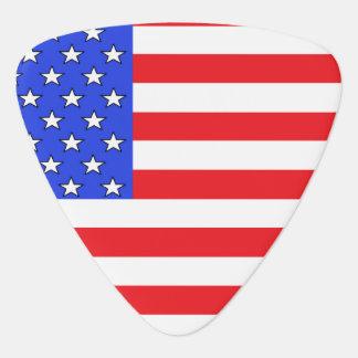 USA America Red White Blue Flag Guitar Pick
