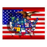 USA America State flag Postcards
