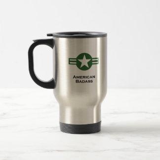 USA American Badass Green Travel Mug