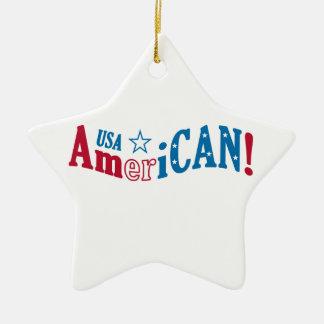 USA AmeriCAN! custom ornament