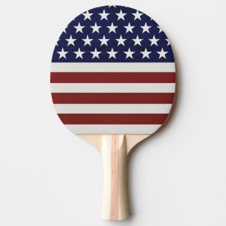 USA American Flag 4th of July Personalized Custom Ping Pong Paddle