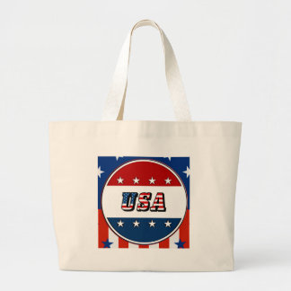 USA - American Flag and Stars in Circle #2 Bag
