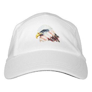 USA American Flag Bald Eagle Design Hat