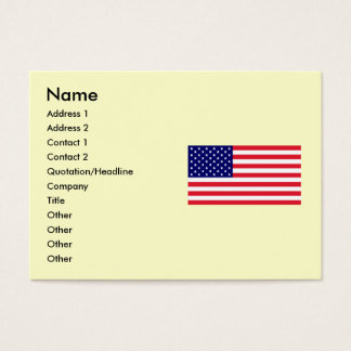 USA - American Flag Business Card