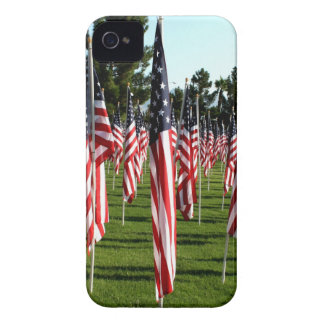 USA American Flag Corner Flag Memorial iPhone 4 Case-Mate Cases
