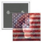 USA American Flag Customisable With Photo Badge