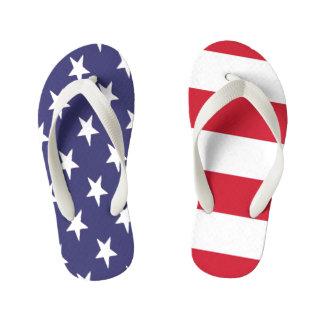USA American Flag Duo Flip Flops