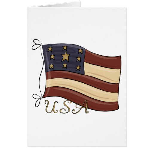 USA American Flag Greeting Card