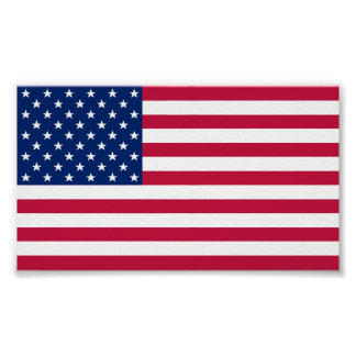 USA American Flag Home Office Wall Decor XS Poster