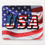 USA - American Flag Mouse Pad
