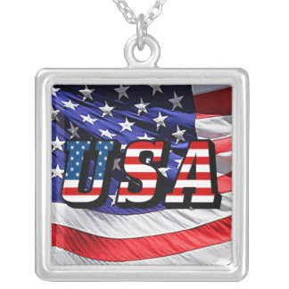USA - American Flag Necklace