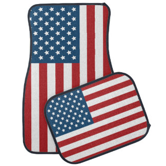 USA American Flag Stars and Stripes Car Mat