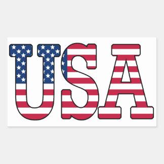 USA American Flag Sticker