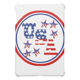USA American Flag Text w/Red White & Blue Border iPad Mini Case