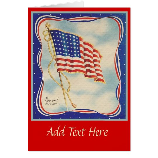 USA AMERICAN FLAG VINTAGE CARD
