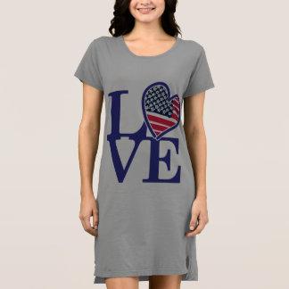 USA American Heart Flag Dress