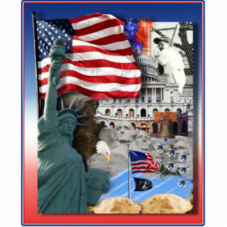 USA American Symbols Standing Photo Sculpture