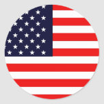 USA AMERICAN US FLAG Series Round Sticker