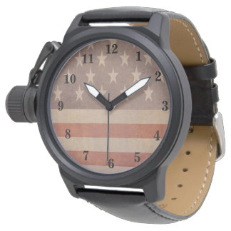 USA American Vintage Flag Watch