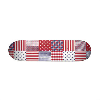 USA Americana Patchwork Red White & Blue Skate Boards