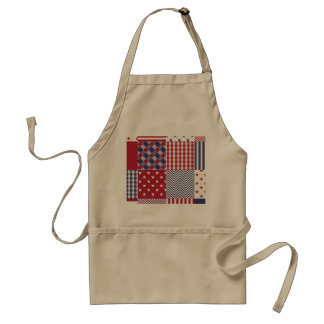 USA Americana Patchwork Red White & Blue Standard Apron