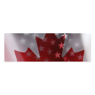 USA and Canada flags bookmark Pack Of Skinny Business Cards