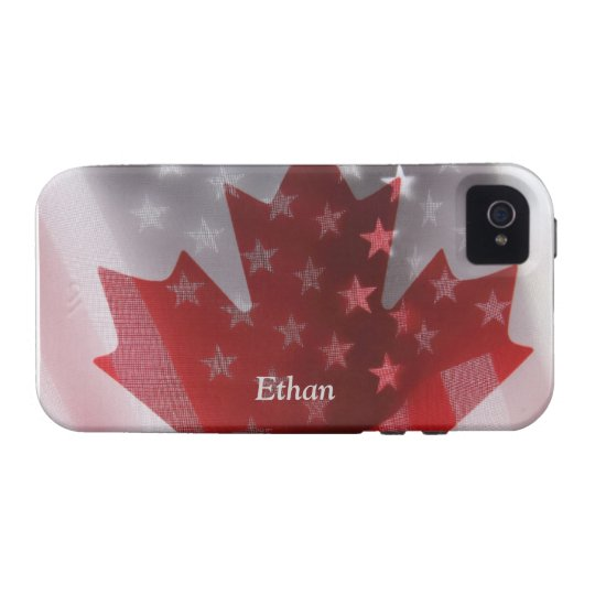 USA and Canada flags iPhone 4 Vibe case