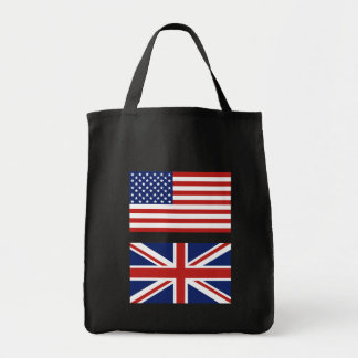 USA and UK Flags. Grocery Tote Bag
